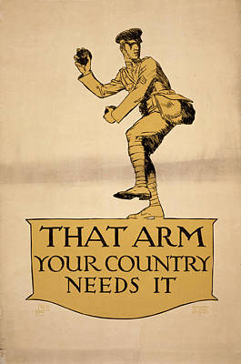 Pitch Painting - World War I Poster, 1918 by Granger