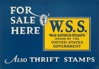 Saving Painting - World War I Thrift Stamps by Granger