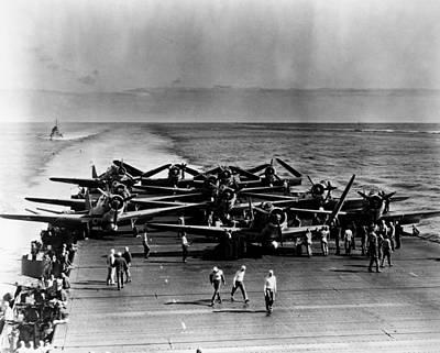 World War II: Midway, 1942 Art Print by Granger