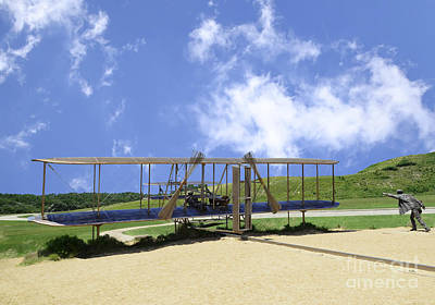 Photograph - Wright Brothers 1st Flight Sculpture by Allen Beatty
