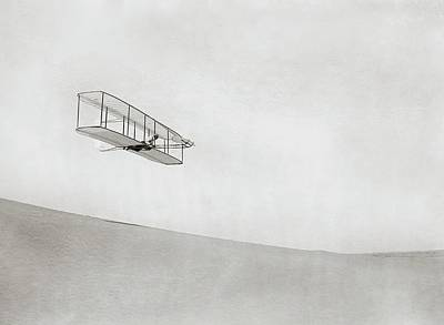 Wright Brothers Kitty Hawk Glider Art Print by Library Of Congress