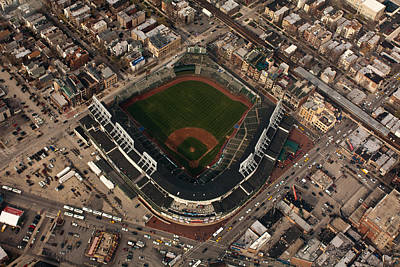 Friendly Confines Photograph - Wrigley Field From The Air by Anthony Doudt