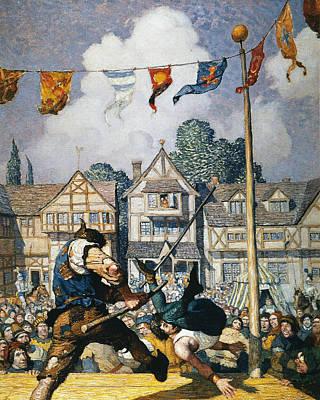 Staff Painting - Wyeth Robin Hood, 1917 by Granger