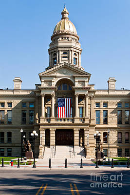 Wyoming State Capital Art Print