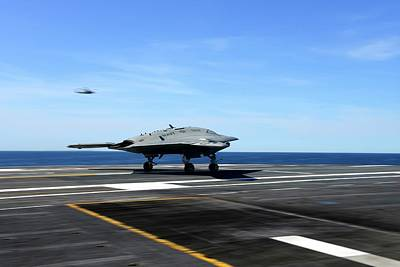 2000s Photograph - X-47b Unmanned Combat Air Vehicle by Us Air Force