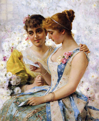 The Love Letter Art Print by Federico Andreotti