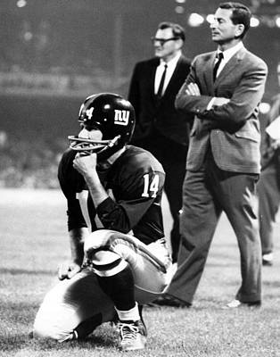 Baltimore Photograph - Y.a. Tittle by Retro Images Archive