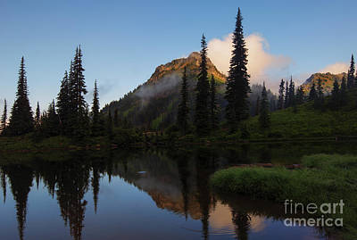 Yakima Peak Reflections Original by Mike  Dawson