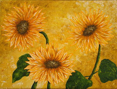 Warm Colors Painting - Yellow Daisies by Pamela Allegretto