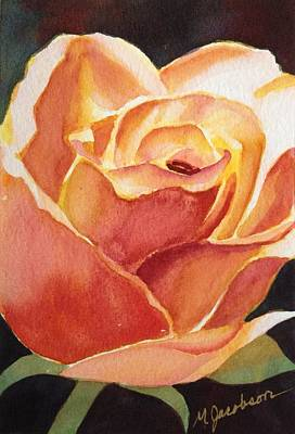 Yellow Rose Art Print by Marilyn Jacobson
