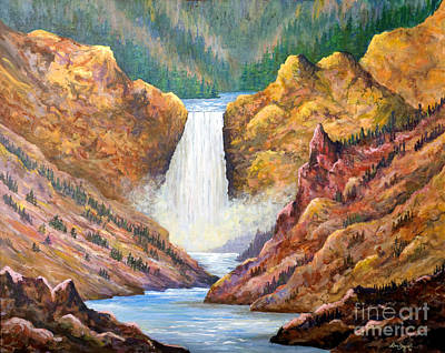 Painting - Yellowstone Falls by Lou Ann Bagnall