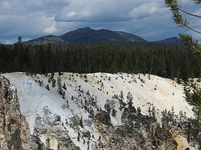 Photograph - Yellowstone Landscape by Laurel Powell
