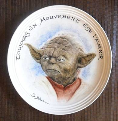 Painter Mixed Media - Yoda by Guillaume Bruno