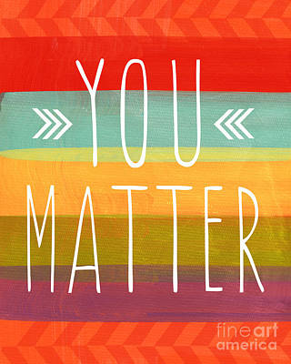 Card Painting - You Matter by Linda Woods