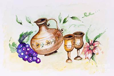 Young French Wine  Art Print by Irina Gromovaja