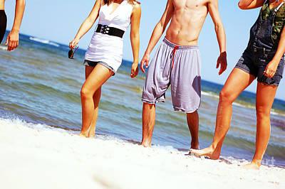 Young Friends On The Summer Beach Art Print by Michal Bednarek