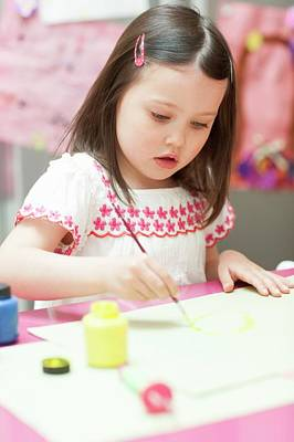 Young Girl Painting Art Print
