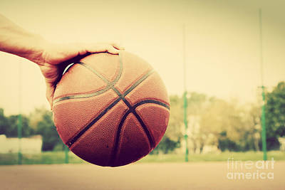 Athletic Photograph - Young Man On Basketball Court by Michal Bednarek
