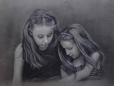 Young Sisters Art Print by Colleen Gallo
