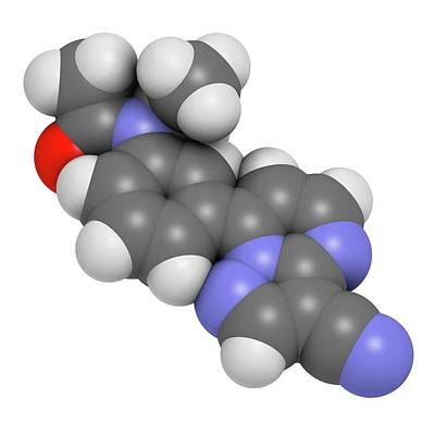 Pill Photograph - Zaleplon Hypnotic Drug Molecule by Molekuul