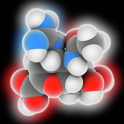 Zanamivir Drug Molecule Art Print by Laguna Design