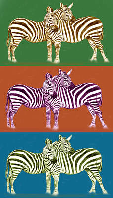 Species Mixed Media - Zebra - Stylised Drawing Art Poster by Kim Wang