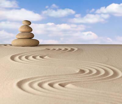 Morality Photograph - Zen Meditation Garden by Dirk Ercken