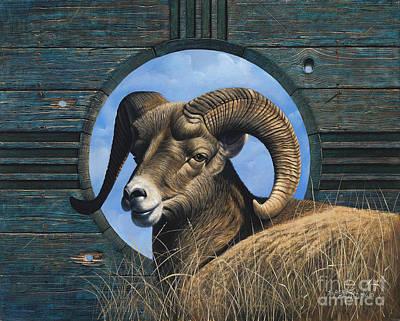 Goat Wall Art - Painting - Zia Ram by Ricardo Chavez-Mendez