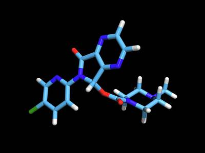 Pill Photograph - Zopiclone Sleeping Pill Drug Molecule by Dr Tim Evans