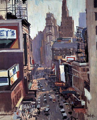Painting - Times Square New York by George Oberteuffer