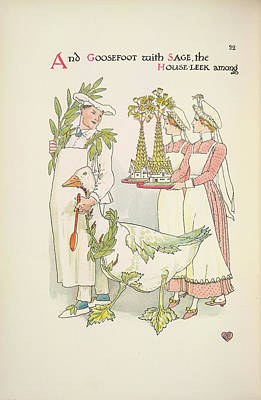 A Flower Wedding Art Print by British Library