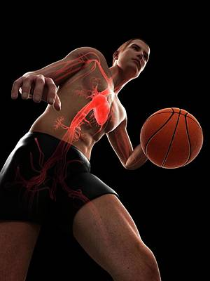 Basketball Player Art Print by Sciepro/science Photo Library