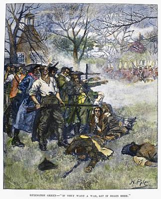 1775 Photograph - Battle Of Lexington, 1775 by Granger