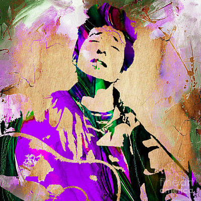 Concert Mixed Media - Bob Dylan Collection by Marvin Blaine