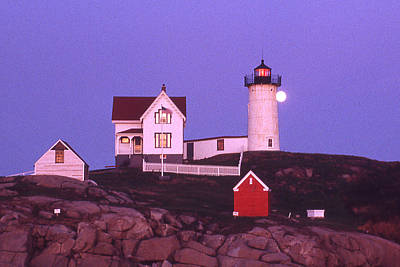 Cape Neddick Light Art Print by Herbert Gatewood