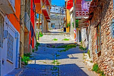 Turkish Mixed Media - Digital Painting Of A Turkish Village Street Scene by Ken Biggs