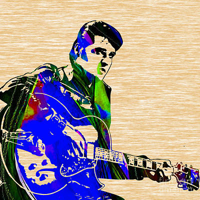 Musical Mixed Media - Elvis Presley Collection by Marvin Blaine