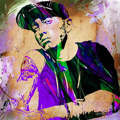 Colorful Mixed Media - Eminem Collection by Marvin Blaine