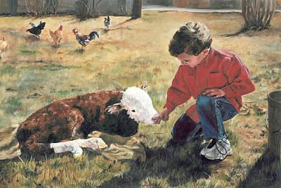 Schoolchildren Painting - 20 Minute Orphan by Lori Brackett