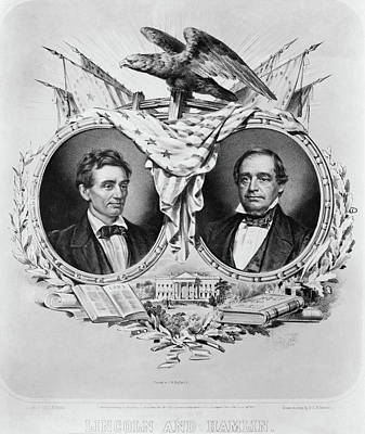 Bible Poster Painting - Presidential Campaign, 1860 by Granger