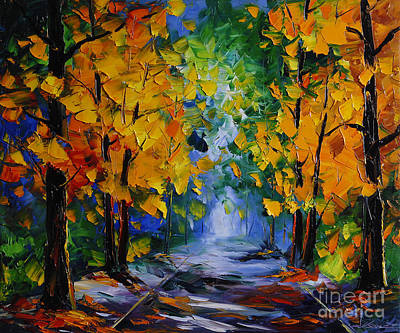 Autumn Landscape For Sale Painting - Autumn Landscape by Willson Lau