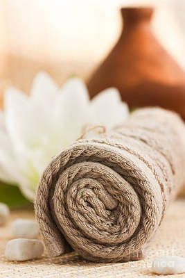 Diffuser Photograph - Spa Setting  by Mythja  Photography