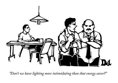 Energy Drawing - Don't We Have Lighting More Intimidating Than by Drew Dernavich