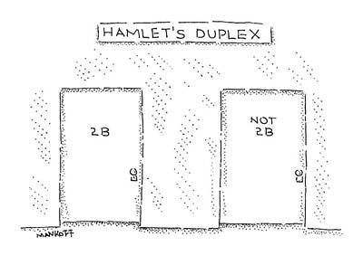 Hamlet Drawing - New Yorker August 3rd, 2009 by Robert Mankoff
