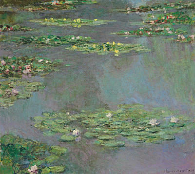 Water Lily Art Painting - Water Lilies by Claude Monet