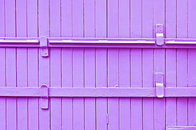 Blue Doors Photograph - Wooden Background by Tom Gowanlock