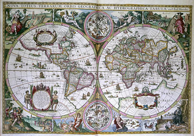 Cartography Photograph - World Map by British Library