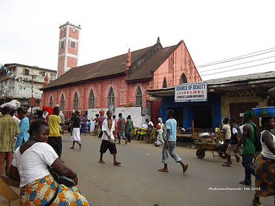 Art Print featuring the photograph 200 Year Old Methodist Church-sani Abacha Street  by Mudiama Kammoh