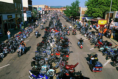 2000s Motorcycle Rally In Sturgis South Art Print
