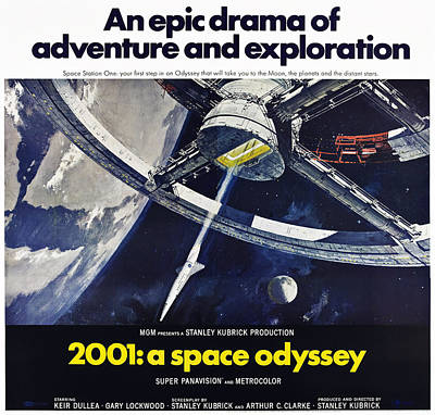 Films By Stanley Kubrick Photograph - 2001 A Space Oddyssey, Us Poster, 1968 by Everett